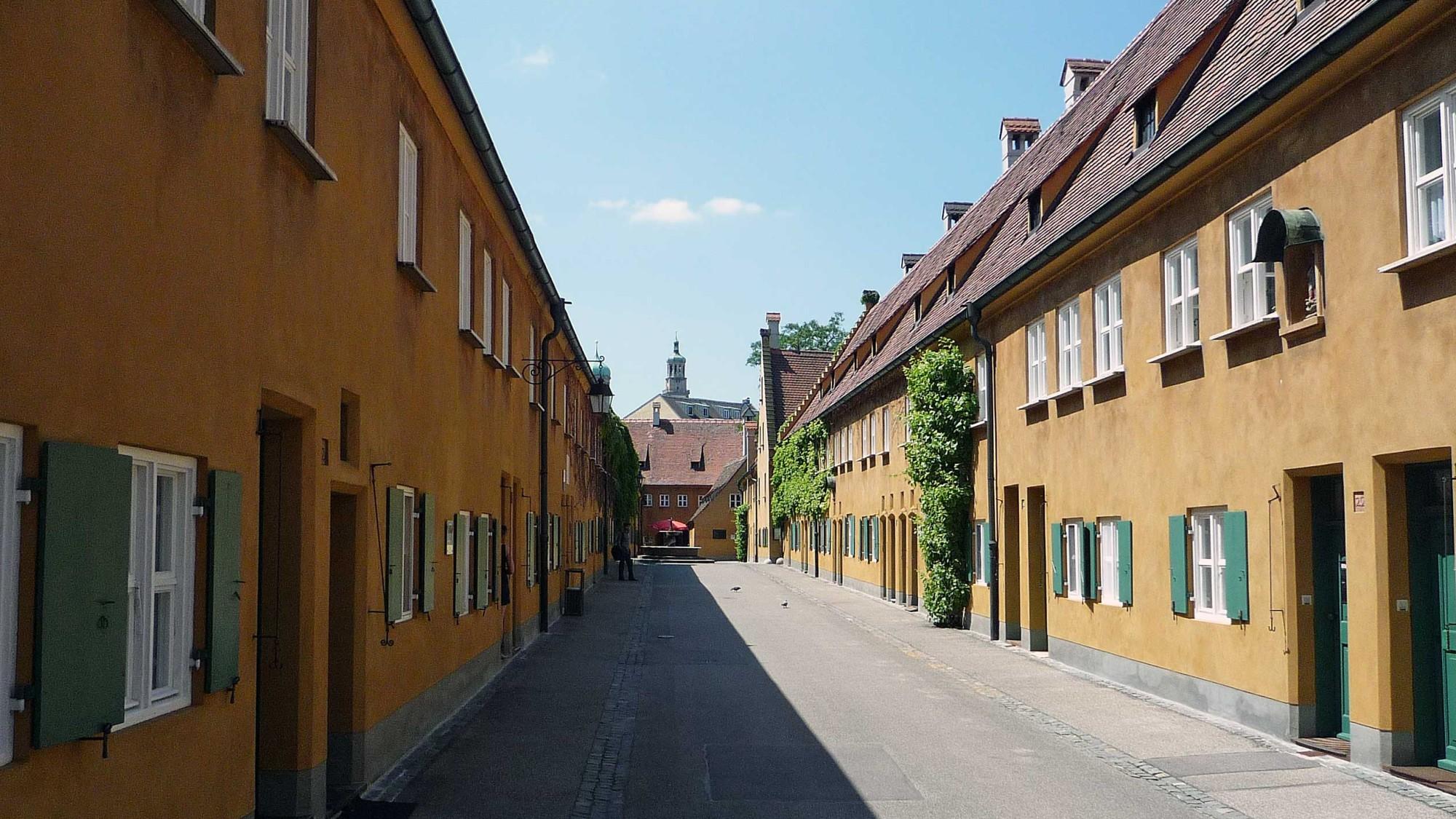 Augsburg: Fuggerei ulička sociálního sídliště