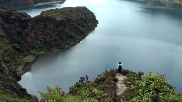 Lagoa do Fogo, Sao Miguel, při sestupu
