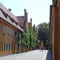 Augsburg: Fuggerei další ulička sociálního sídliště